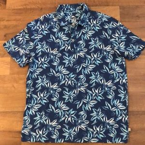 Tommy Bahama Men's Polo Shirt Size M Floral Blue
